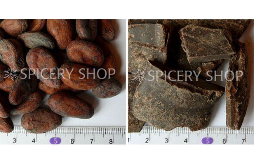 Какао бобы и какао тертое