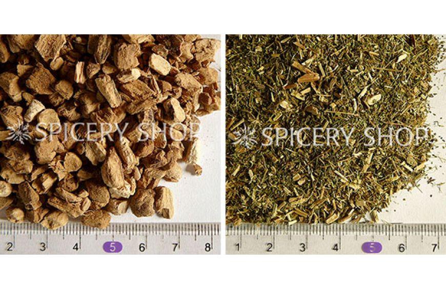 Корень аира и лист стевии