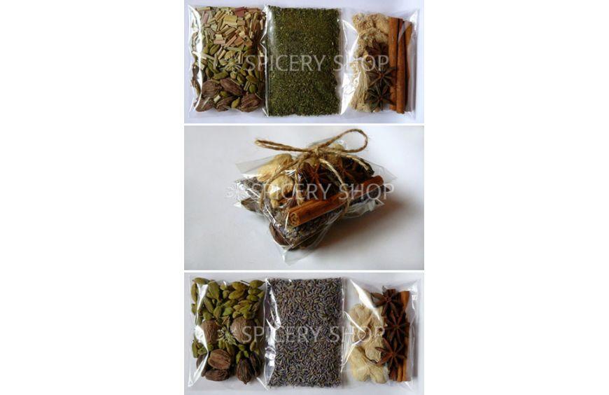 Подарочные наборы специй и пряностей для кофе или чая | в пакетиках бандеролькой