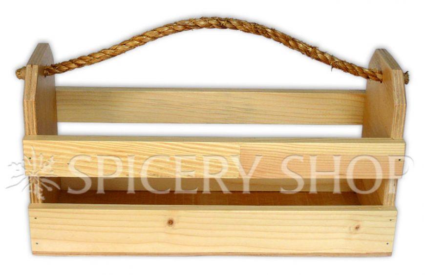 Деревянная подставка в виде корзинки для хранения пряностей