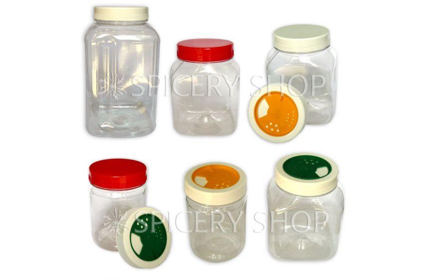 Пластиковые ПЭТ банки для специй и сыпучих