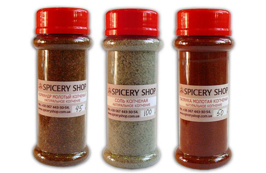 Специи копченые — соль, кориандр, паприка
