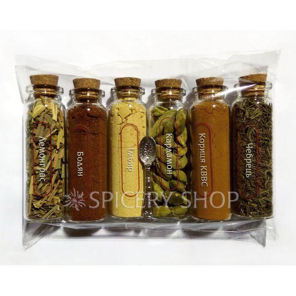 Подарочный набор специй для чая карманный | Чаеман 6 пряностей