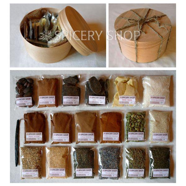 Подарочный набор ингредиентов и пряностей | Шоколад со специями экстра