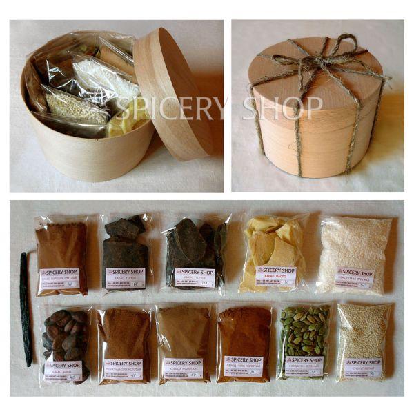 Подарочный набор кондитерских ингредиентов и пряностей | Шоколад со специями