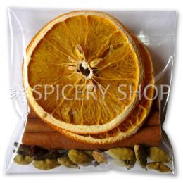 Подарочный набор пряностей для глинтвейна с кольцами апельсина