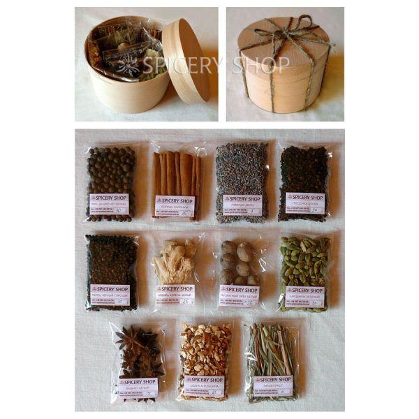 Подарочный набор специй и пряностей для глинтвейна | Эксклюзив