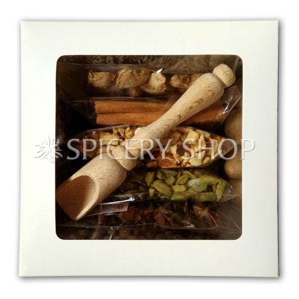 Подарочный набор специй и пряностей для глинтвейна с вариациями