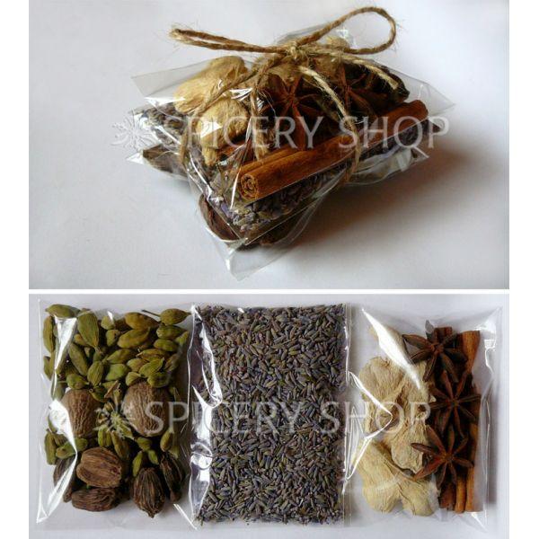 Подарочный набор специй и пряностей для кофе | в пакетиках бандеролькой