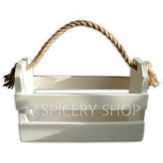 Подставка-корзинка для специй на 10 баночек, цвет - белый