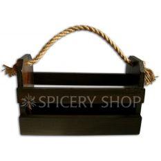 Подставка-корзинка для специй на 10 баночек, цвет - коричневый