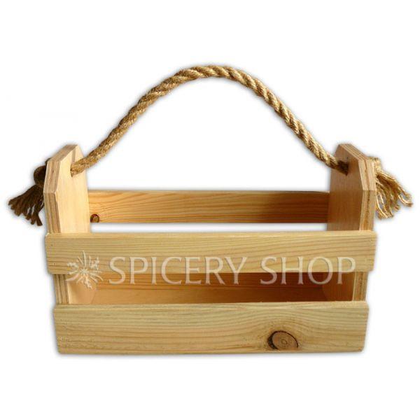 Деревянная подставка для специй в виде корзинки на 10 баночек | цвет — сосна