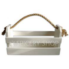 Подставка-корзинка для специй на 12 баночек, цвет - белый
