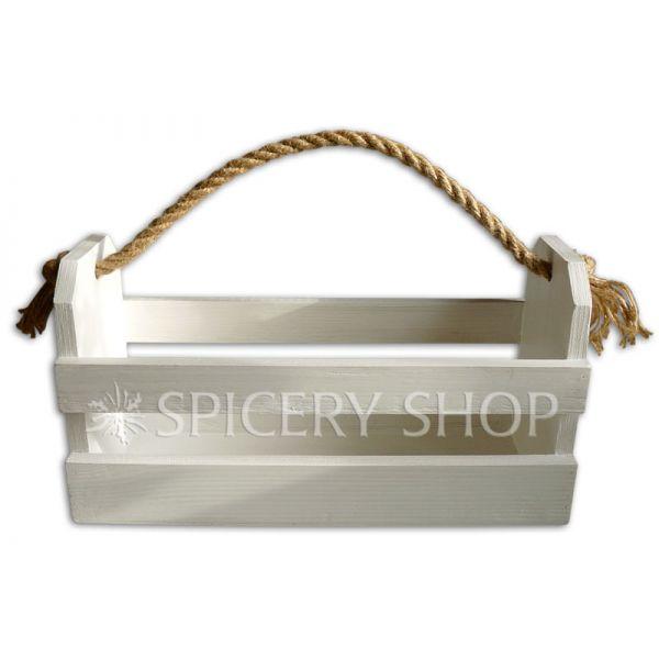 Подставка для пряностей в виде корзинки на 12 баночек 100 мл | цвет — белый