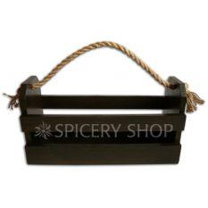 Подставка-корзинка для специй на 12 баночек, цвет - коричневый