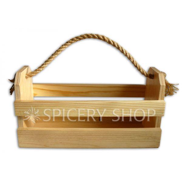 Подставка для пряностей в виде корзинки на 12 баночек 100 мл | цвет — сосна