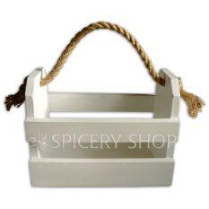 Подставка-корзинка для специй на 8 баночек, цвет - белый
