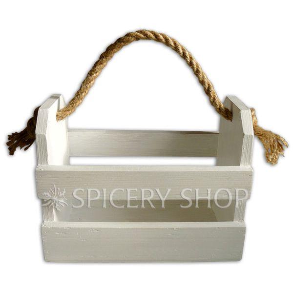 Подставка корзинка для приправ на 8 баночек | цвет — белый