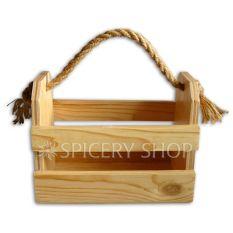 Подставка-корзинка для специй на 8 баночек, цвет - сосна