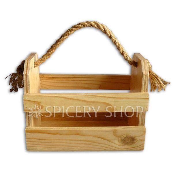 Подставка корзинка для приправ на 8 баночек | цвет — сосна