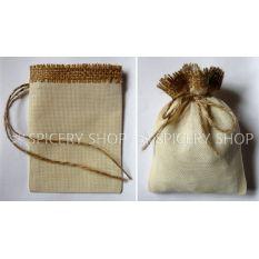 Подарочный мешочек из льна и мешковины