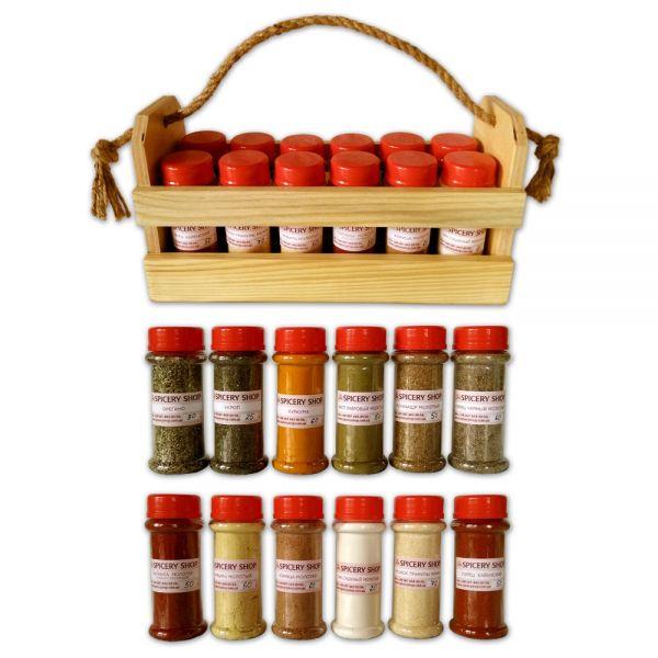 Подарочный набор специй | Начинающий кулинар | в корзинке