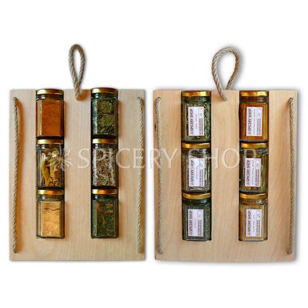 Оригинальный подарочный набор специй — Зеленое и оранжевое