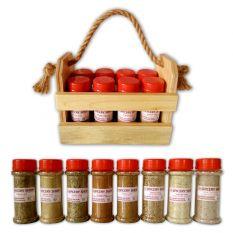 Подарочный набор пряных солей в корзинке